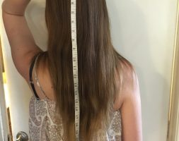 17 inches auburn hair