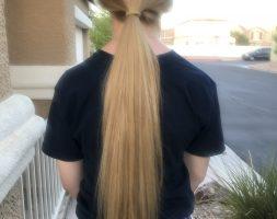 Virgin light blonde hair