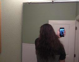17 inches of thick, healthy, dark brown hair for sale