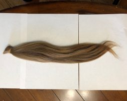 16.5 inches Virgin Blonde Hair for Sell!