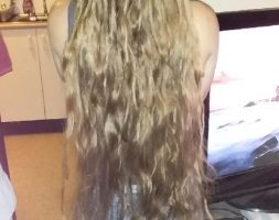 32 inches Aussie blonde hair