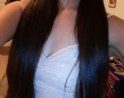17 inches long and 5 inches thick of chestnut hair for sale – Berlin-