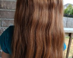13 inches Auburn Hair for sale, 3″ thick