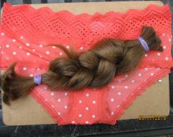 13.5 Inche dark blonde/light brown virgin hair
