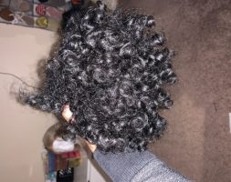 10 inches of curly hair color black