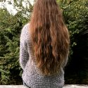 13″ of thick chestnut hair with beautiful highlights