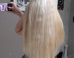 1sold6 inch light blonde raw hair