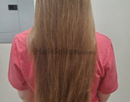 "12"" of Virgin Dark Blonde / Light Brown Hair"