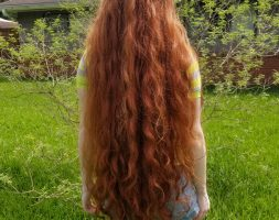 26 inches wavy red virgin hair