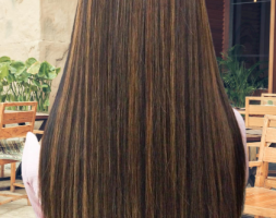 Naturally virgin 100% chocolote brown hair 4.5 inches (Inches) 28(price dropped)