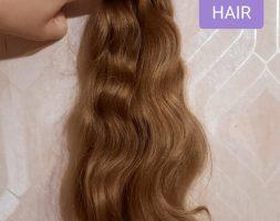 """BABY HAIR 19.7 """", 2.75 oz, virgin hair, fresh cut, ponytail, auburn"""