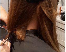 21 Inch of Virgin Dark Blonde Hair From Teenage Girl