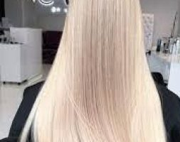 Beautiful virgin 4.6 inches thin 30 inches long blonde hair