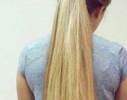 Natural hair virgin 4.5 inches medium blonde 28 inches long natural hair