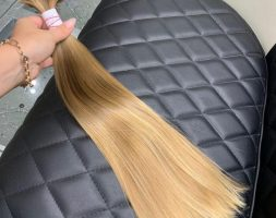 21.6″ Blonde baby /child hair from 10 y.o. Russian child, virgin hair, fresh cut, blond, ponytail
