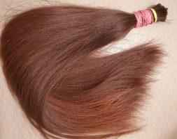 18.5″ Teenager hair, virgin hair, brown, auburn hair, 3.17 oz, fresh cut, healthy donor