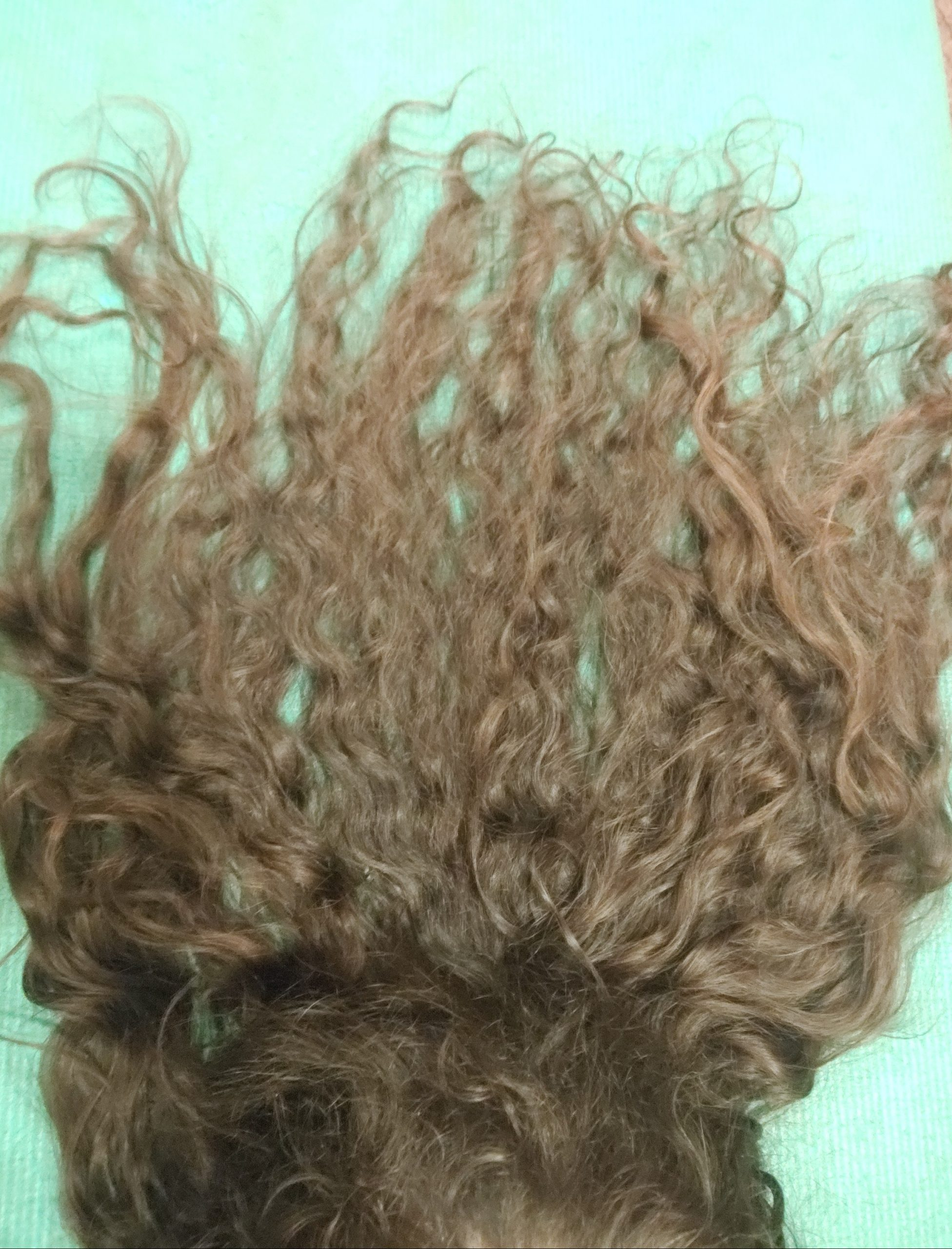 15 inches thick curly brown hair for sale