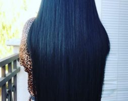 26 inches black hair 3.5 inches thickness straight hair (price dropped) -OPEN TO OFFERS