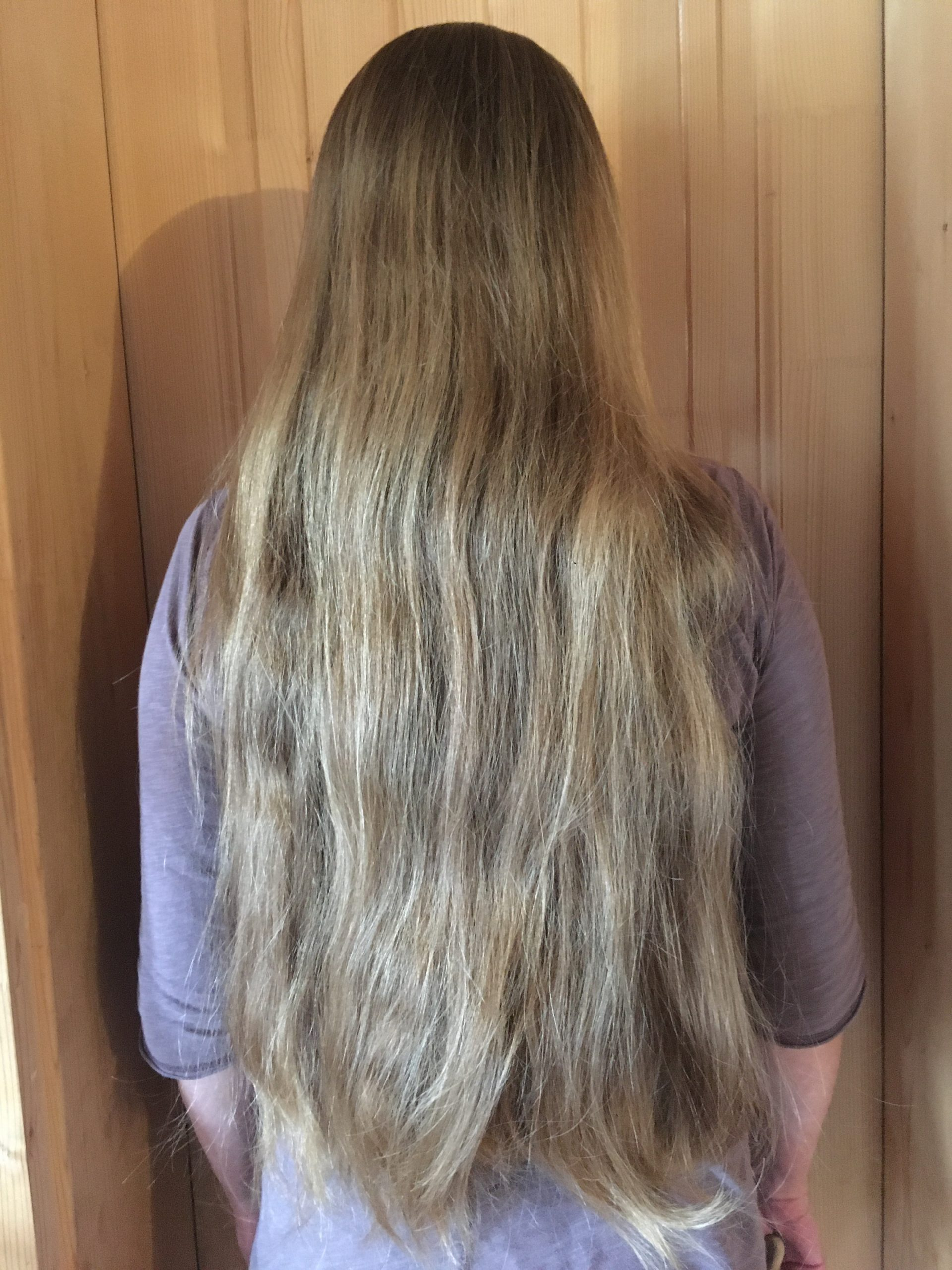22 Inches long, 4 Inches thick Blonde Hair for Sale