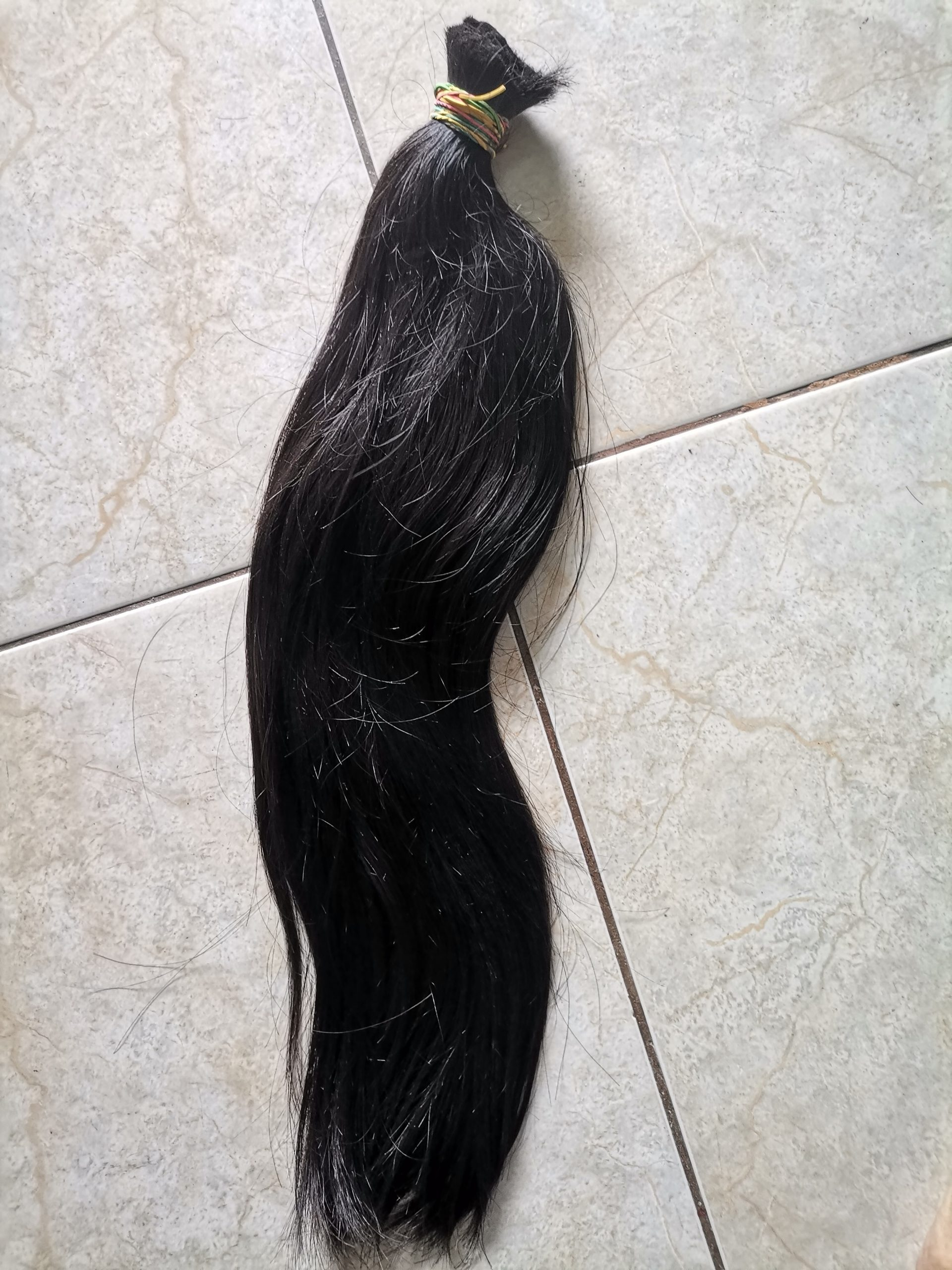 52cm Long black hair