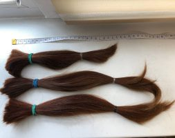 14 and 9 inch dyed healthy hair
