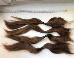 12-inch virgin cut light-brown hair